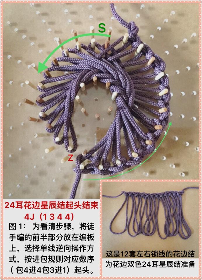 中国结论坛 24耳双色花边结星辰结组合4J(1344)  作品展示 102936z9zcmz88e8ye4f14
