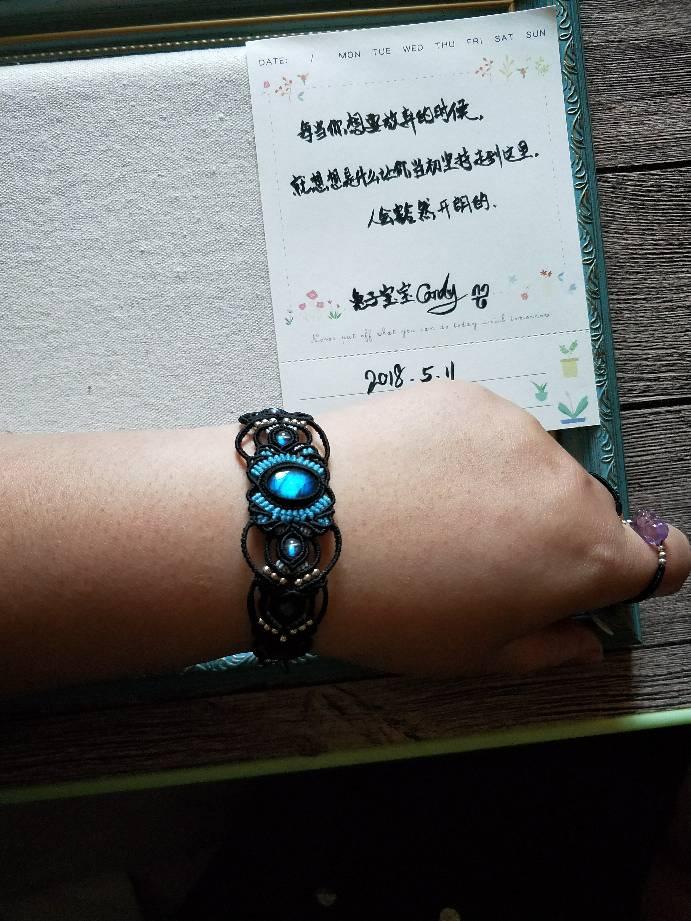 中国结论坛 拉长石配拉长珠子手链  作品展示 074627m94lmef3nl3zwpfe