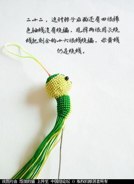 中国结论坛 十二生肖之小蛇 一条爱美,十二生肖,爱美,美的,一条 立体绳结教程与交流区 095310ehgudzgppa5fooep