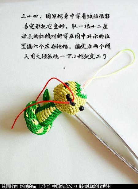 中国结论坛 十二生肖之小蛇 一条爱美,十二生肖,爱美,美的,一条 立体绳结教程与交流区 095313hgwwoar8yhselalh