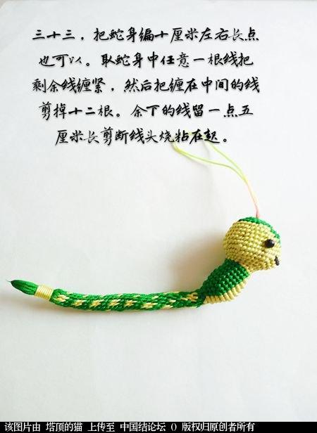 中国结论坛 十二生肖之小蛇 一条爱美,十二生肖,爱美,美的,一条 立体绳结教程与交流区 095313m6ttg5285fbk5o82