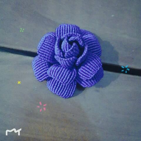 中国结论坛 终于编成了一朵玫瑰花!  作品展示 001214kyvv4c74p7v4pq41