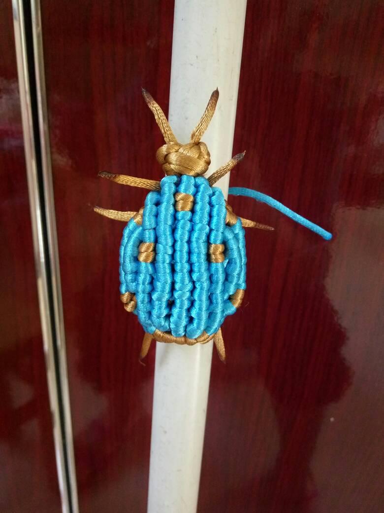 中国结论坛 用线头编织的七星瓢虫,成品不是很理想  作品展示 200938o585z31h8156z315