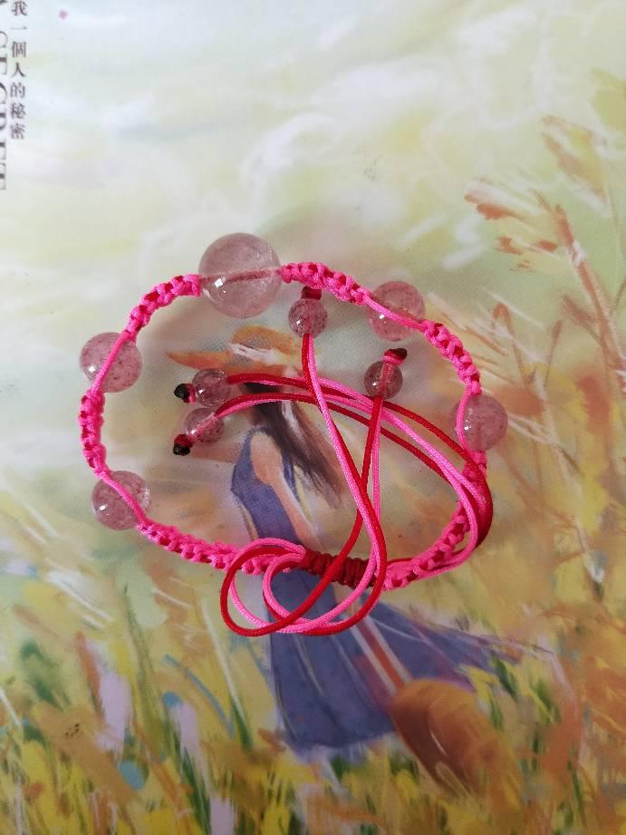 中国结论坛 草莓桃花手链希望大家喜欢 手链 作品展示 150827z05ouoyi8o1dukox