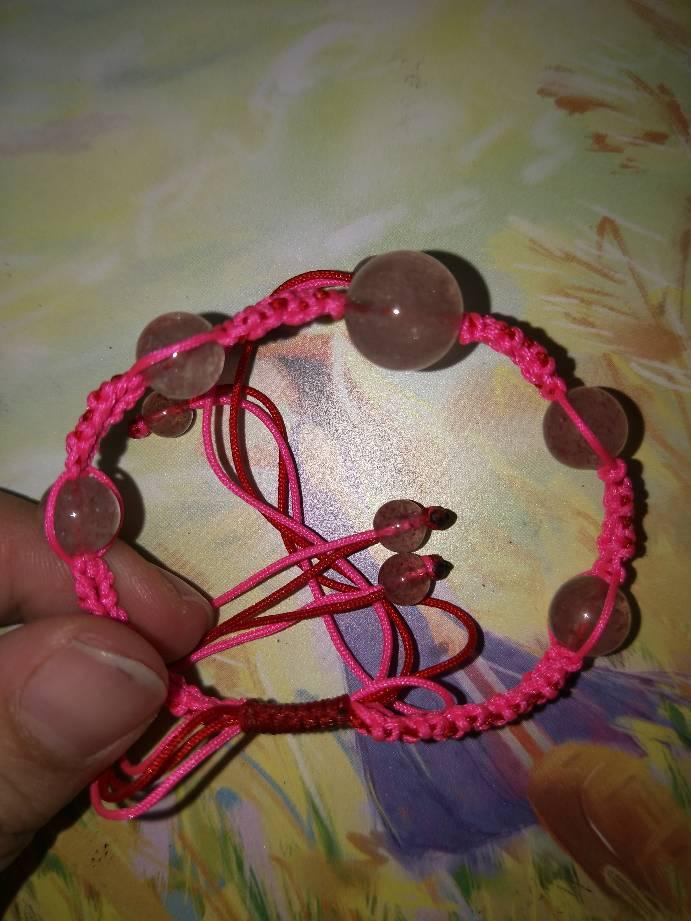 中国结论坛 草莓桃花手链希望大家喜欢 手链 作品展示 150830zz3rxb4w777r8r7x