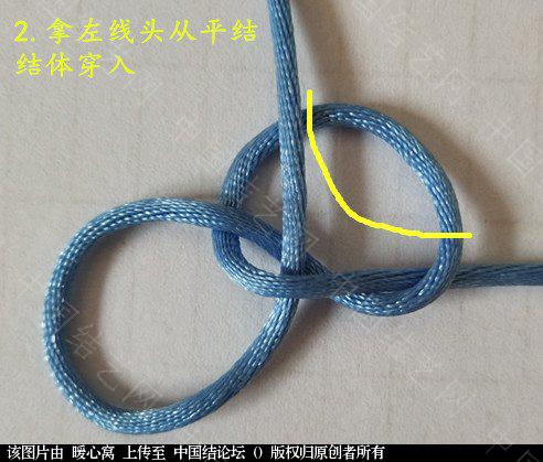 中国结论坛 六瓣锁四一攀缘结  第一次做教程有做的不好的地方还望大家见谅  基本结-新手入门必看 103512kl534f42qqjfaam2