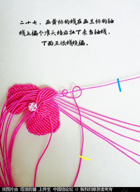 中国结论坛 蝴蝶兰小包饰  立体绳结教程与交流区 103724i6g04m11qwugqsg6