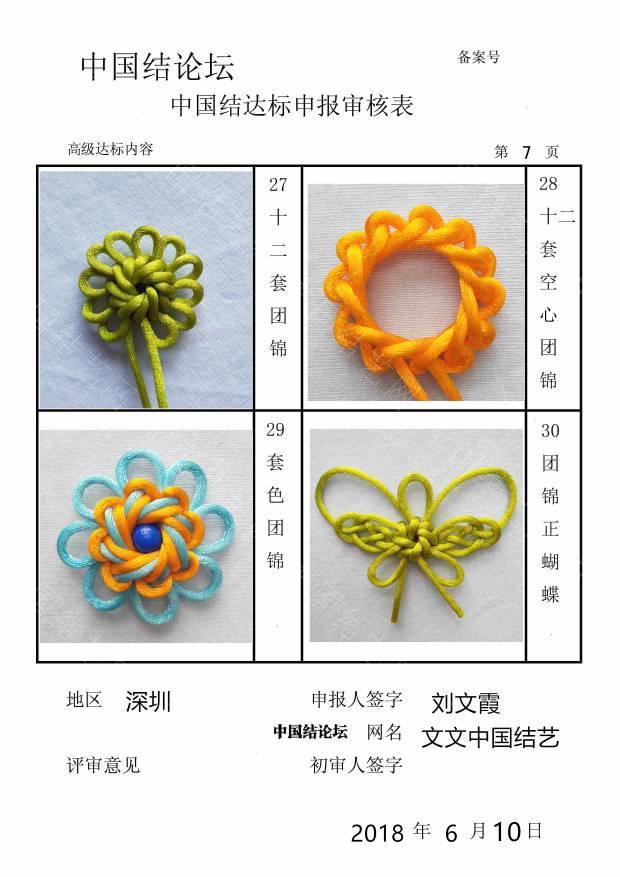 中国结论坛 文文中国结艺---高级达标申请稿件  中国绳结艺术分级达标审核 184338su2bfd4n37ll41u2