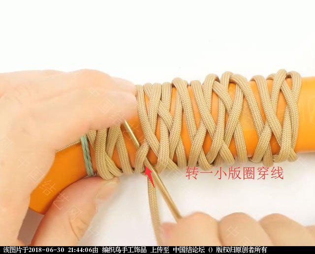 中国结论坛 伞绳编织,斧柄编织教程  图文教程区 214346o65tg88kho6hgooj