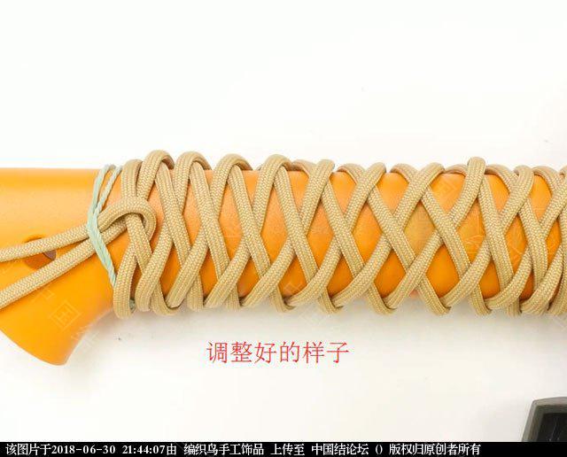 中国结论坛 伞绳编织,斧柄编织教程  图文教程区 214348azm583gkek385xgl