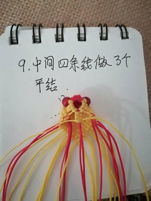 中国结论坛 小金鱼,试着写了一个,请多指教  立体绳结教程与交流区 232743azu6u9cummgm4qqa