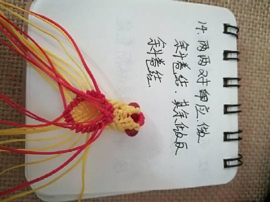 中国结论坛 小金鱼,试着写了一个,请多指教  立体绳结教程与交流区 232746uzgdi6gxua2z10jg