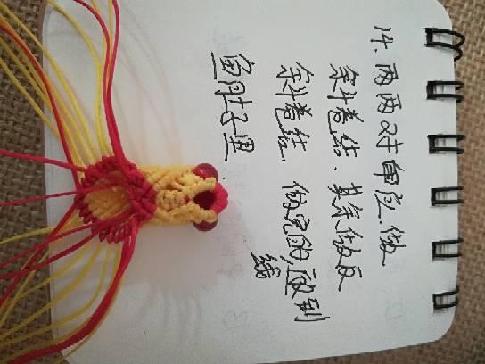 中国结论坛 小金鱼,试着写了一个,请多指教  立体绳结教程与交流区 232747npru0rqq488rd4sl