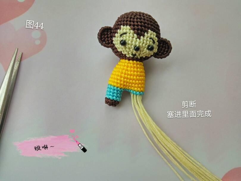中国结论坛 忧郁的小猴子教程  立体绳结教程与交流区 174449zms6qmq3jmy93zz6