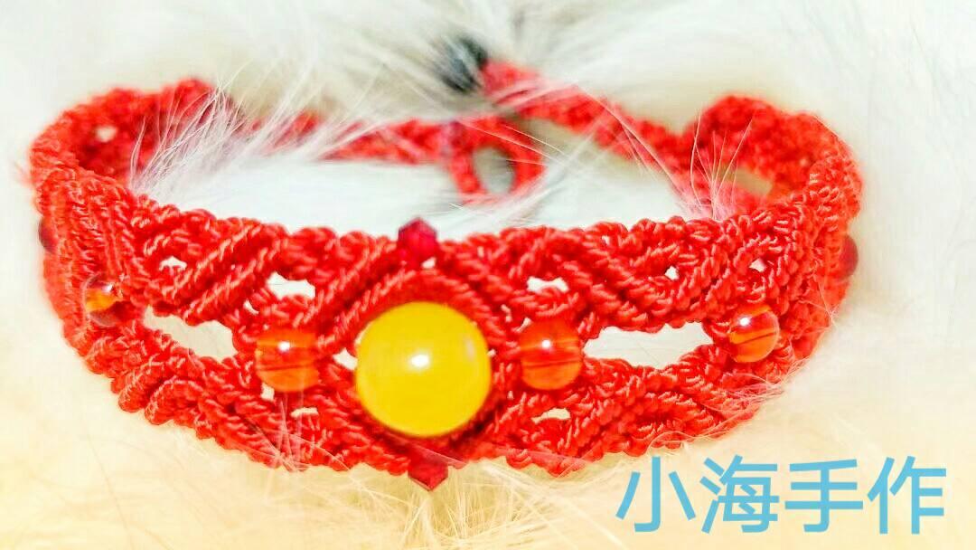 中国结论坛 新学的手链  作品展示