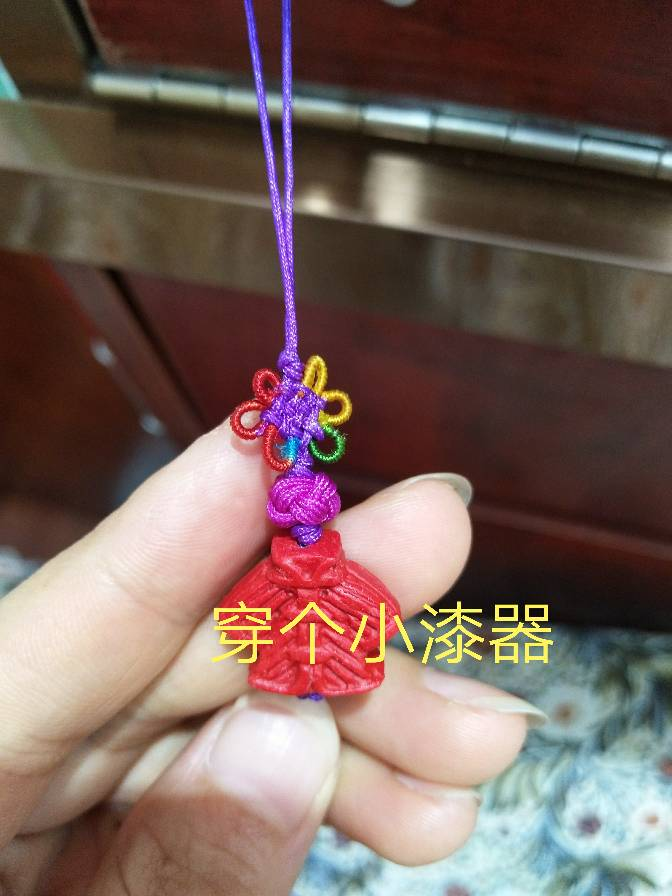 中国结论坛 小漆器流苏挂件 漆器,流苏,流苏怎么绑在挂件上,流苏与挂件连接方法 图文教程区