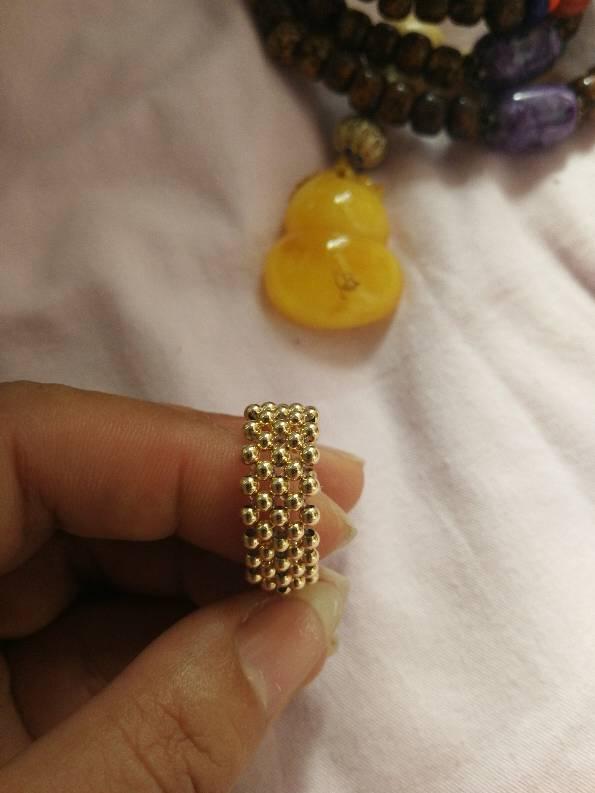 中国结论坛 做了个14K小金珠戒指  作品展示 173849dwgn0lzl4hkvb5nb