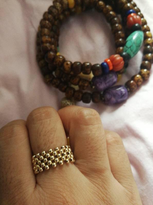 中国结论坛 做了个14K小金珠戒指  作品展示 173850zf8feqzgp1ffepos