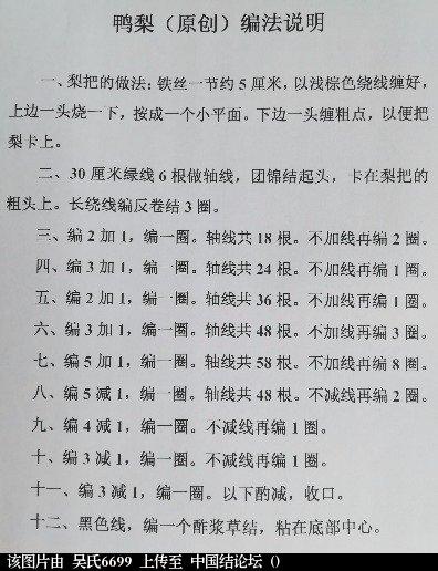 中国结论坛 鸭梨(原创)及编法说明  作品展示 183653ma19m9wh959ahmmm