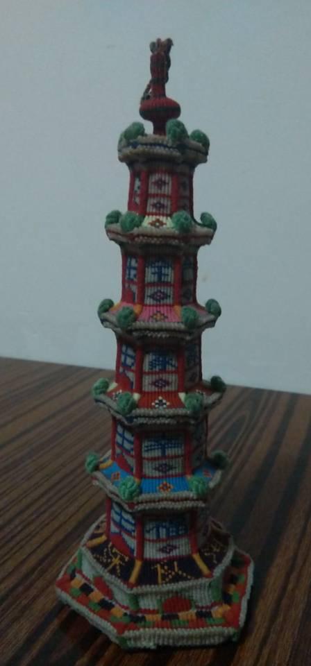 中国结论坛 合家幸福欢乐宝塔完工,历时半年  立体绳结教程与交流区 193139gpuq0amai90kzrc9