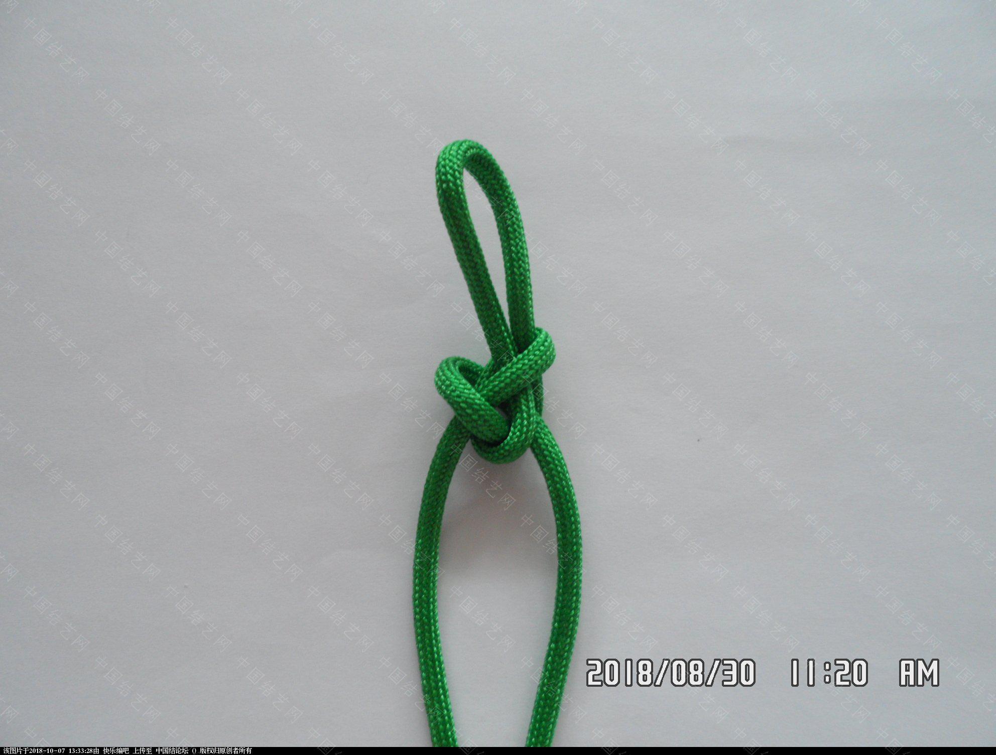 中国结论坛 伞绳刀坠 —— 三角结还可以这样编  图文教程区 130029w5xm5494vllv45vf