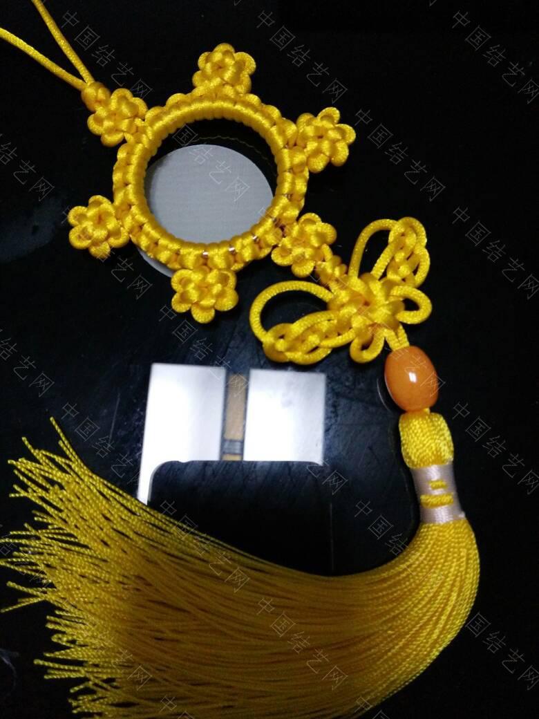 中国结论坛 高贵典雅的黄色挂饰  作品展示 210154rkxveecvfsscvjca