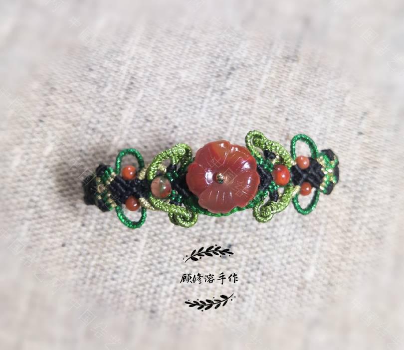 中国结论坛 南红小花手绳  作品展示 134323eppm952y11p213ym