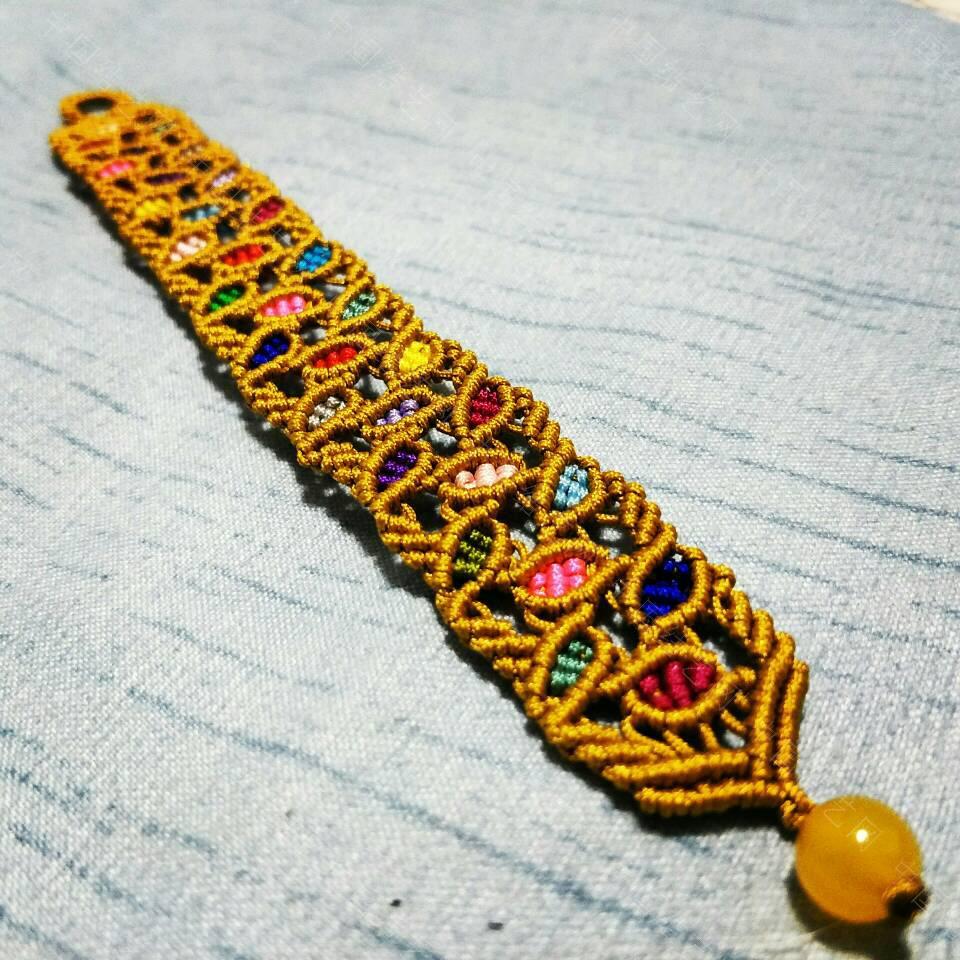 中国结论坛 留住秋的美丽——彩色树叶手链。  作品展示 210209lz116e6a31zu13ku