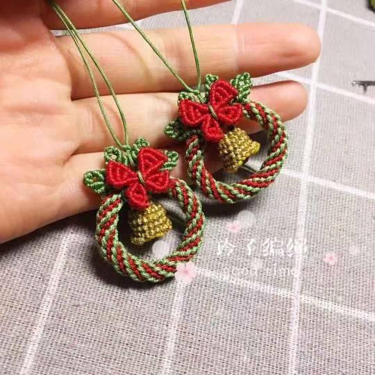 中国结论坛 圣诞花环耳饰  作品展示 174053tcr4a5ml4c4btnmn