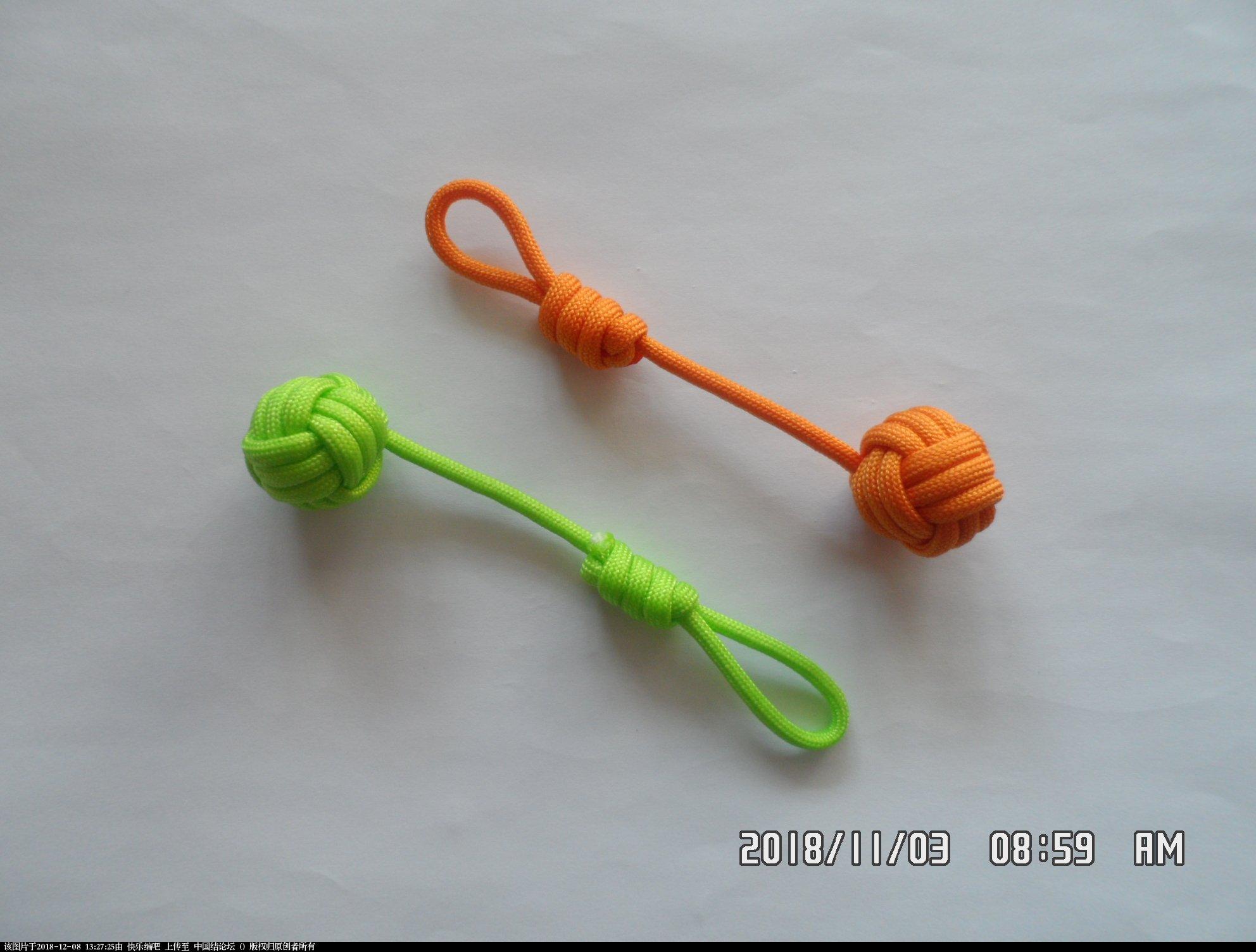 中国结论坛 简单实用的伞绳小挂件(5)—— 猴拳结还可以这样编 还可,可以,这样,猴拳,—— 图文教程区 124729bm8dj00ozsj6sd4o