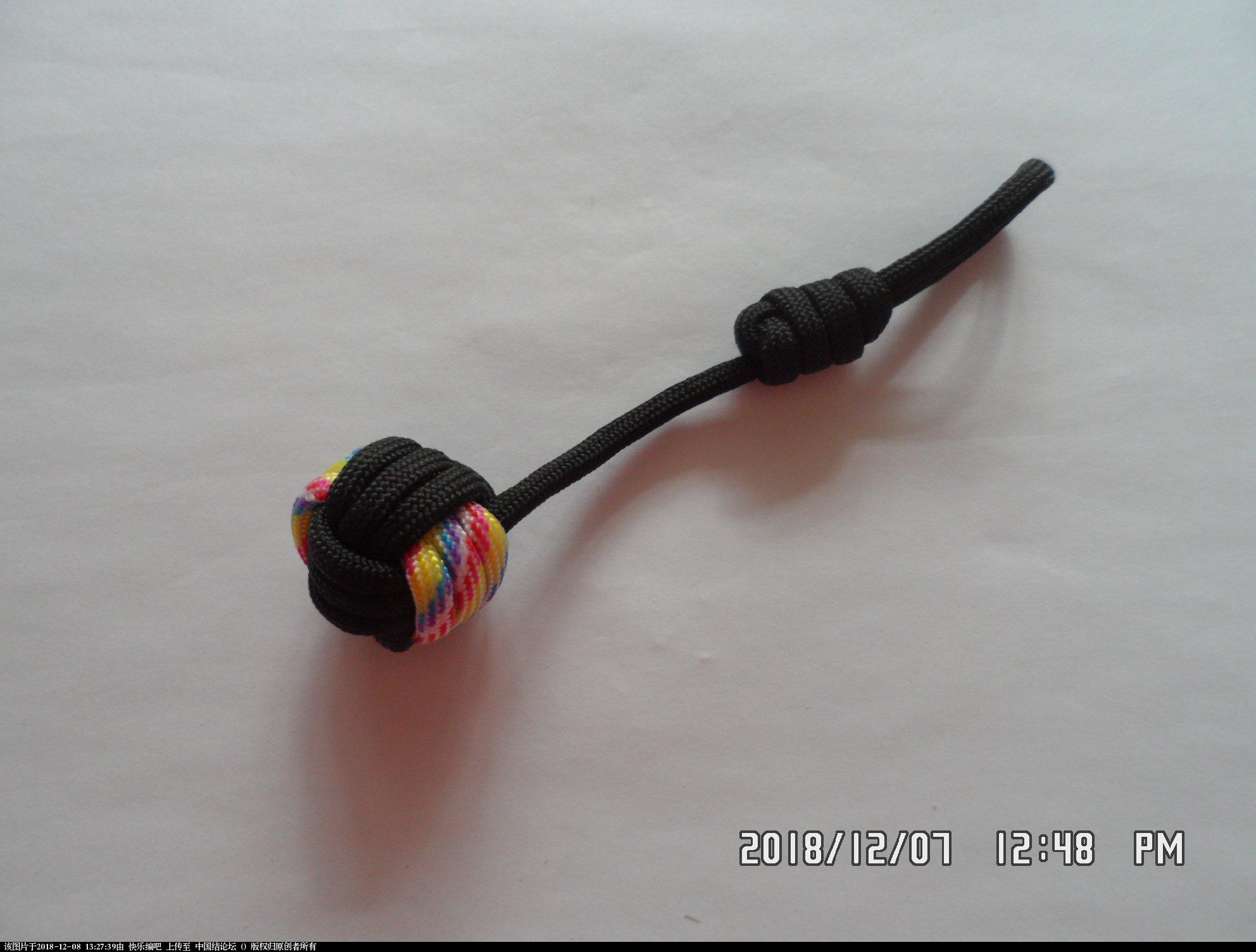 中国结论坛 简单实用的伞绳小挂件(5)—— 猴拳结还可以这样编 还可,可以,这样,猴拳,—— 图文教程区 130048sq6codccdrnnddcq