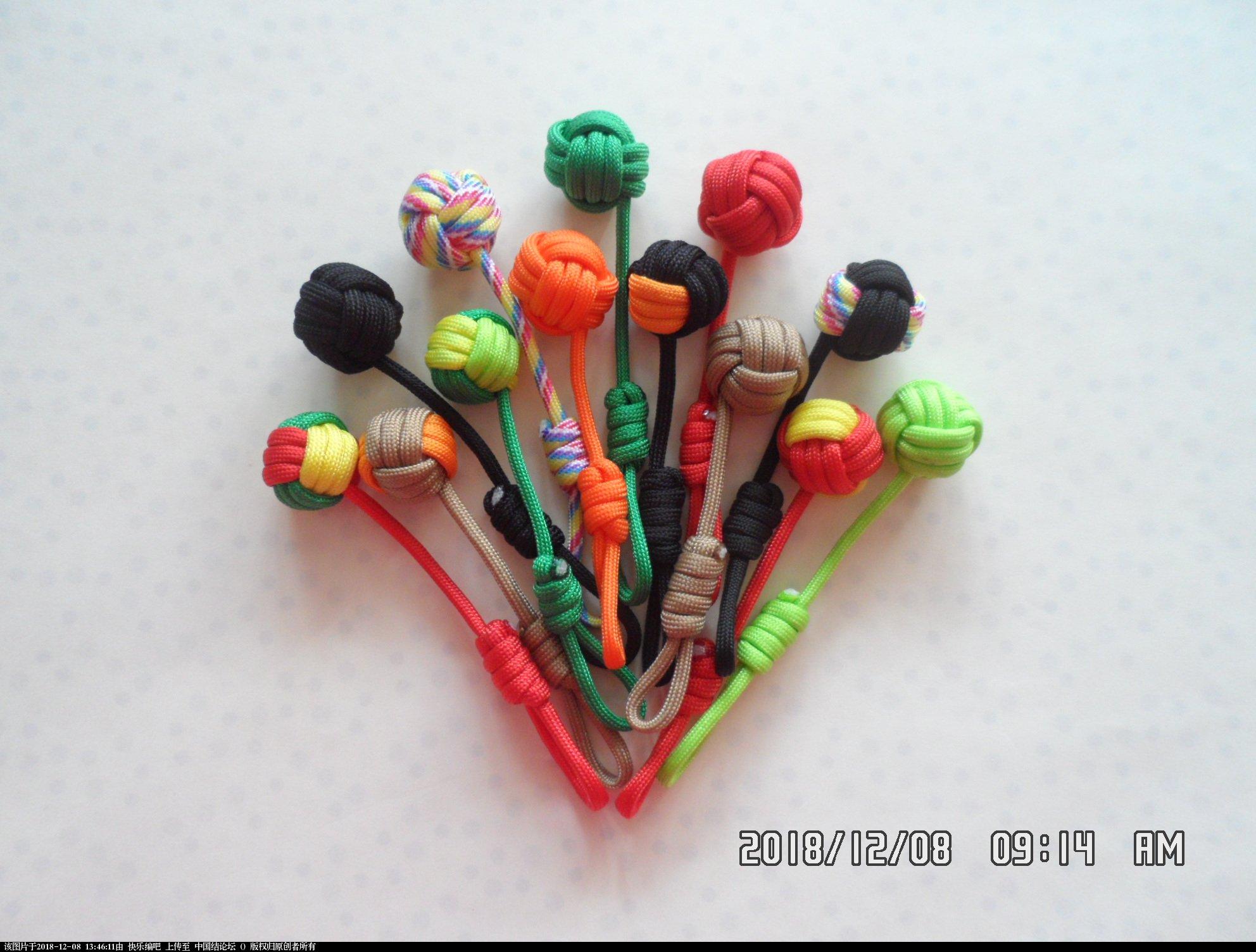 中国结论坛 简单实用的伞绳小挂件(5)—— 猴拳结还可以这样编  图文教程区 134502c6n4m622or22nfnc