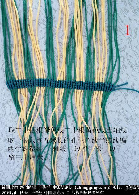 中国结论坛 孔雀果盘的编结过程  立体绳结教程与交流区 191813vydrwirw3g4g797w