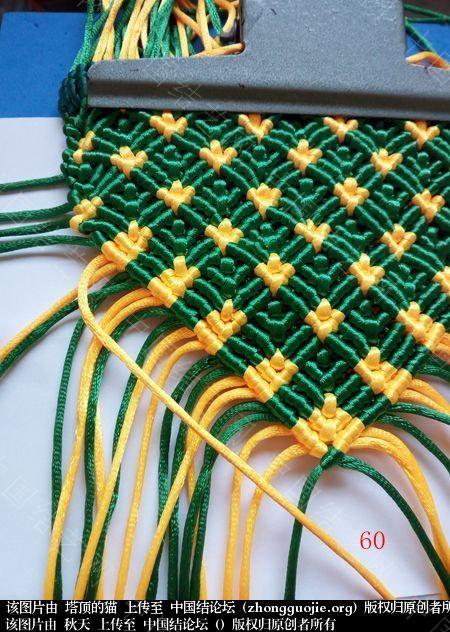中国结论坛 孔雀果盘的编结过程  立体绳结教程与交流区 191821s5m02kgy54b9oi00