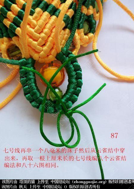 中国结论坛 孔雀果盘的编结过程  立体绳结教程与交流区 191826a4y054mfvmeefze4