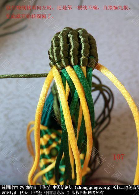 中国结论坛 孔雀果盘的编结过程  立体绳结教程与交流区 191829avl8lhk3v4z3wdtz