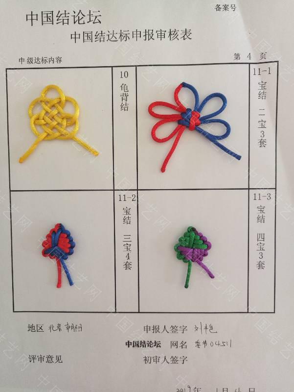 中国结论坛 季节04511-中级达标申请稿件  中国绳结艺术分级达标审核 105603qkefocjsifeospwe