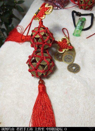 中国结论坛 加上中国结和流苏的葫芦是不是更漂亮啊  作品展示 003611wgb4zxigig55q3x3