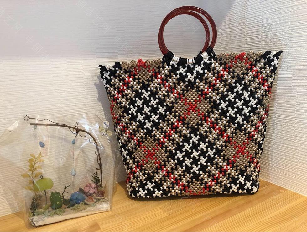 中国结论坛 苏格兰格子的手编包包  作品展示 134712vbbsv3bbxynlxb3s