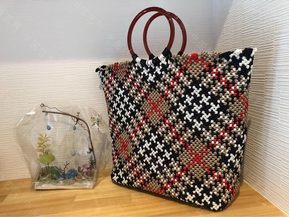 中国结论坛 苏格兰格子的手编包包  作品展示 134721ilrglgz22bhozlzl