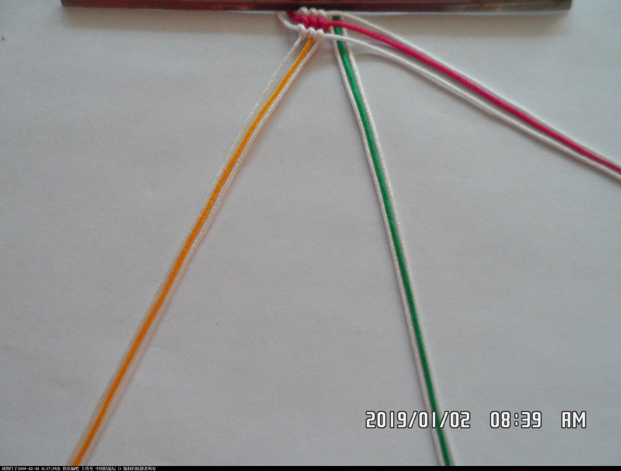 中国结论坛 一款彩色辫子图案手绳的编法 —— 反斜卷结练习  图文教程区 105102zbdss7mcqcb2j2fg