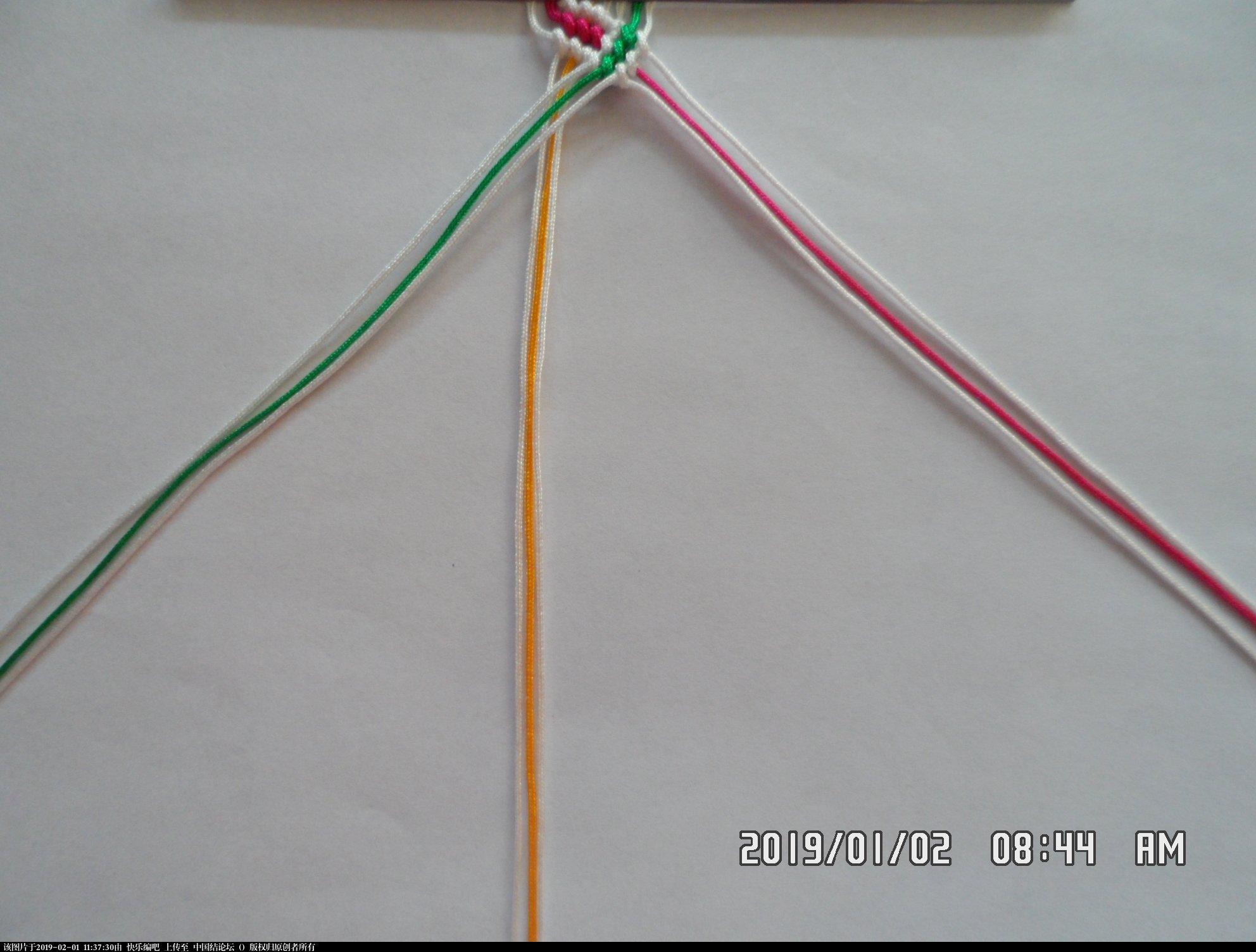 中国结论坛 一款彩色辫子图案手绳的编法 —— 反斜卷结练习  图文教程区 105427rgpt8uuukucrbk5z