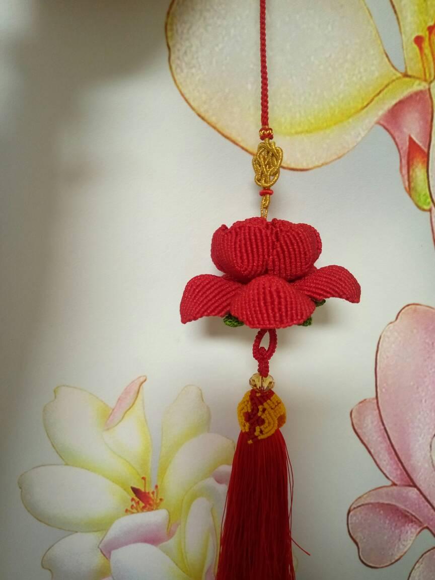 中国结论坛 玫瑰车挂和牡丹车挂,红色用的A玉线,有点勒手,做完了有点手指疼  作品展示 204106ycjjlqwyvhtewv4h