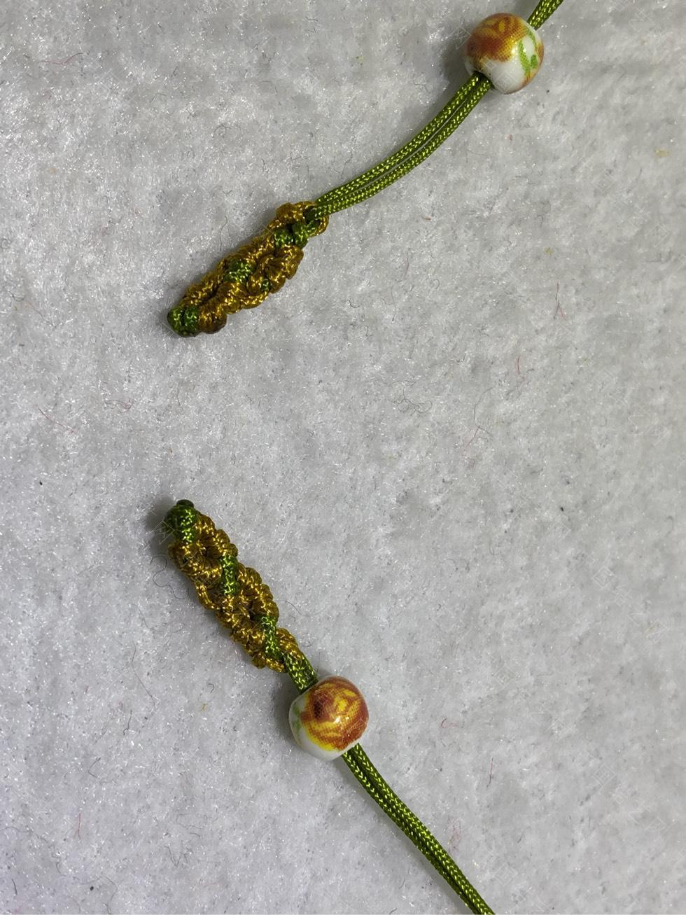 中国结论坛 陶瓷珠蕾丝手链。  图文教程区 144848zjc8zejse8kjsscj