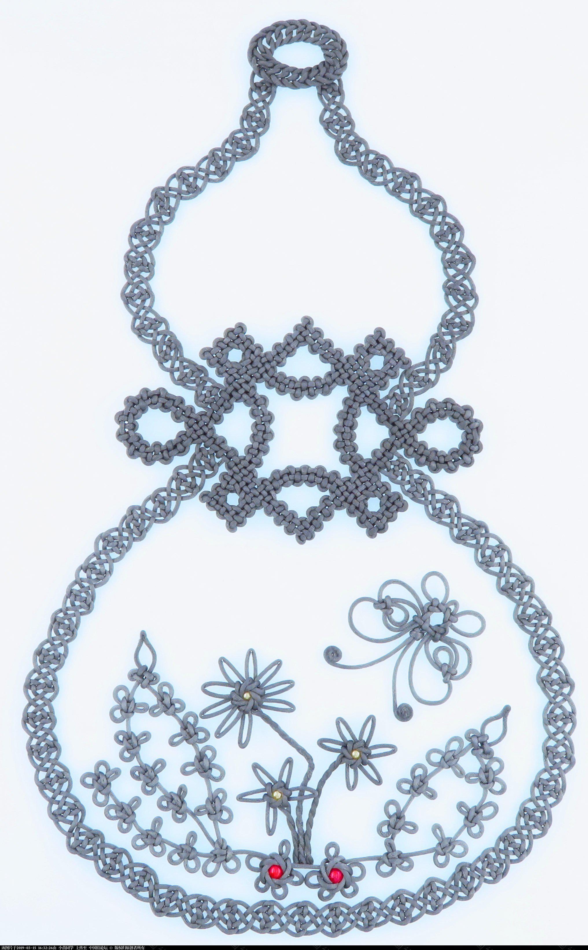 中国结论坛 模仿几何中国结里的葫芦  作品展示 163141i8kby7jzjk11w1jt
