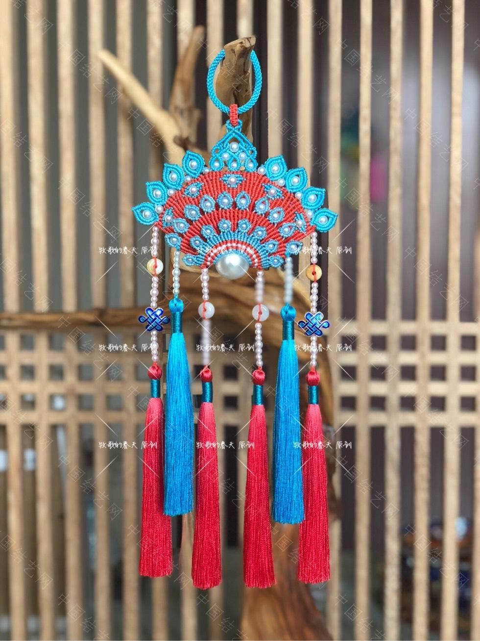 中国结论坛 原创挂饰 复式凤冠花嫁之天青  作品展示 110744t98mmqpbm8qqqpp7