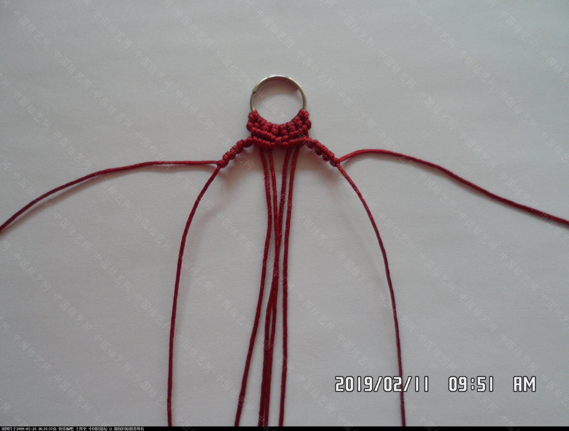 中国结论坛 耳坠 —— 雀头结、斜卷结、反斜卷结组合练习  图文教程区 172946jw0016or2wlw4651
