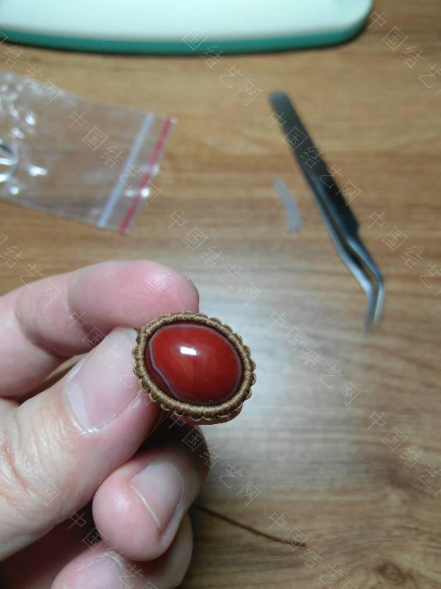 中国结论坛 给媳妇编个戒指  作品展示 132047n47qc6fqc4qd44df