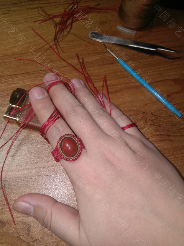 中国结论坛 给媳妇编个戒指  作品展示 132051fpeaat55oy55hpeh