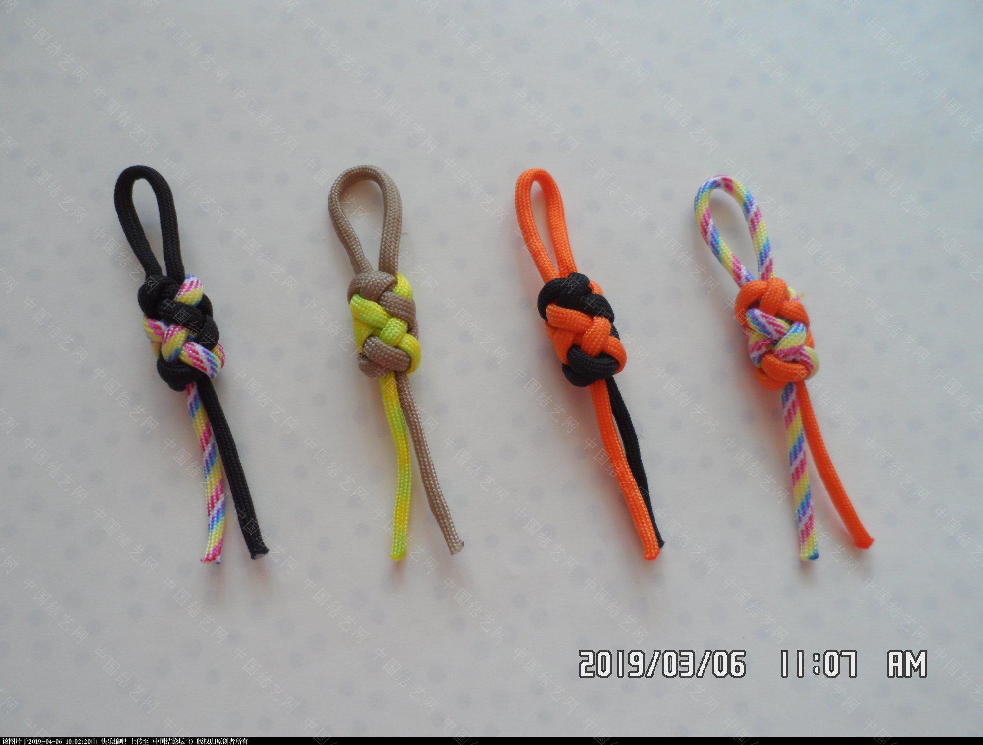 中国结论坛 一款伞绳圆柱形小挂件的走线方法  图文教程区 085902bzlo73zanaiiwkeg